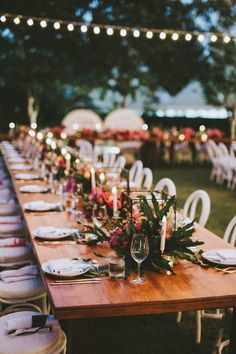 Bare tabletop, natural wood table, geometric candle holders, white seats, botanical centrepiece | table ideas | reception | Hitchd Bali | Wedding Furniture | Bali Event Hire