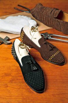 varied colours of simple mocassins #MadeInNigeriaShoeExpo