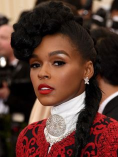 Janelle Monae at the 2014 Met Ball: http://beautyeditor.ca/2014/05/06/met-ball-2014/