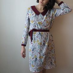 Susie blouse turned into a dress! Pattern by Sew Over It Sew Over It, Dress Making Patterns, Dressmaking, Sewing Projects, Sewing Patterns, Wrap Dress, Creations, Silk, Long Sleeve