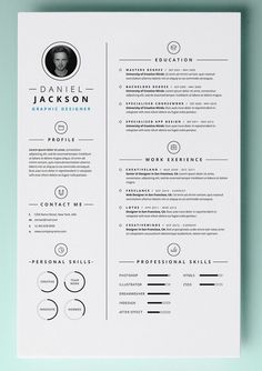 Resume Word Template Fair Resume Template With Photo  Professional Modern Cv Word Mac Decorating Design