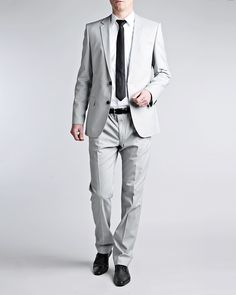 HUGO Heise Aiko1 gray suit - Suits - Men