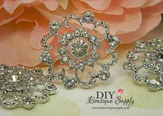 Large Vintage style Rhinestone Crystal by DIYBoutiqueSupply, $4.95