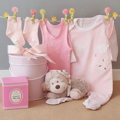 How cute is this Cheeky little Monkey baby girl gift box filled with all the essentials a cheeky little monkey will need and also includes a beautifully scented soy wax candle for mum. New Baby Girls, Baby Girl Gifts, Monkey Baby, Little Monkeys, Baby Socks, Soy Candles, Baby Bodysuit, Baby Names, Pretty In Pink