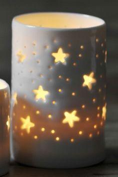 #tealight holder #photophore #étoile #star #candle #ceramic #céramique #bougie #light #lumière