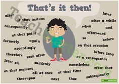 Then Synonym Poster Teaching Resource