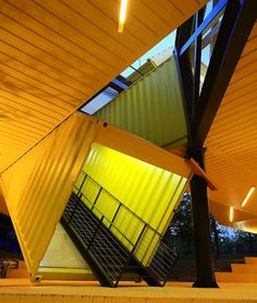 Shipping container art school in korea by LOT-EK   Let's Build a Home