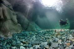 Verzasca River in Switzerland
