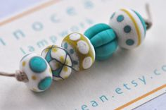 p i n o c e a n lampwork beads set 5  mini mix / by pinocean, $26.50