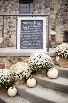 décoration de mariage automnal par Graceful Host