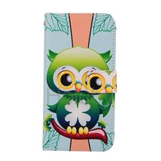 Wholesale Wallet Style Cross Pattern Side Flip Stand TPU+PU Leather Case for HTC One M9 (Green Owl)