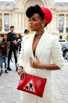 Janelle Monet for Akris. 2015 Paris Fashion Week