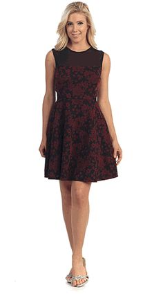 Burgundy Lace Homecoming Short Formal Dress  #DiscountdressupStore #Sleeveless #Lace #Cocktail #Dress