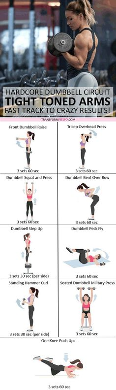 #womensworkout #workout #femalefitness Repin and share if this workout gave you tight toned arms! Click the pin for the full workout.