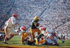 Today in History: January 15:     1967: Packers face Chiefs in first Super Bowl  -   Green Bay Packers beat KC Chiefs 35‐10 in Super Bowl I, played at Memorial Coliseum in Los Angeles, California.