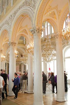 The Pavilion Hall, Winter Palace, St Petersburg, Russia