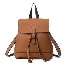 Cheap mochila escolar, Buy Quality travel backpack women directly from China leather school bag Suppliers: 2017 New Travel Backpack Women Leather School Bags Teenagers Schoolbags Casual Rucksack School Backpack Mochilas Escolares Shoulder Bags For School, School Bags For Girls, Girls Bags, Estilo Preppy, Estilo Boho, Women's Bags, Black Leather Backpack, Pu Leather, Leather Backpacks