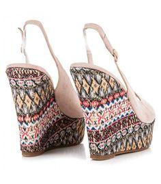 Topánky na kline v etnickom štýle FL22229BE