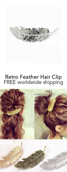 Retro Feather Hair Clip