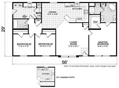 Scottsbluff 29 X 56 1624 sqft Mobile Home | Factory Expo Home Centers
