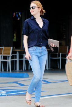 Emma Stone seen coming out of PC greens Market in Malibu (September 12, 2015)