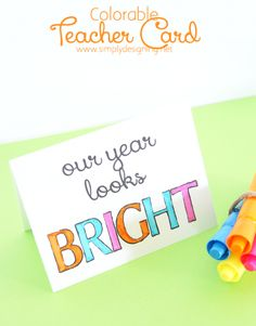 Colorable Teacher Card