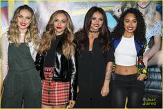 Little Mix To Host Yahoo Live Stream For 'Get Weird' Album Debut: Photo #888835. Little Mix pose for group photos ahead of their fan event at Hard Rock Cafe on Tuesday afternoon (November 3) in Hollywood.    The ladies -- Jesy Nelson, Leigh-Anne…