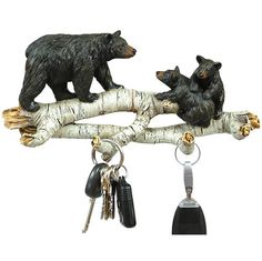 Rustic Mountain Decor ~ Bear and Birch Rustic Wall Hooks  Maybe not the bears but love the concept :)