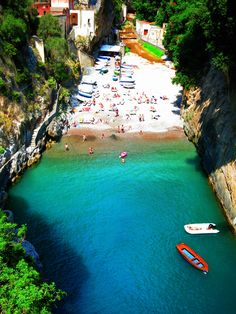 Secret beach on the Amalfi Coast, Italy  Go to passportsandchampagne.com to see more from our adventure around the world.