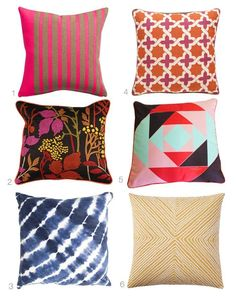 Kess InHouse Dawid ROC Colorful Tribal Ethnic Ikat Yellow Pattern 26 Round Floor Pillow