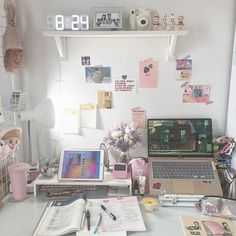 Room Decor: 60 Ideas and Designs for You to Be Inspired - Home Fashion Trend Study Room Decor, Study Rooms, Cute Room Decor, Room Setup, Room Ideas Bedroom, Bedroom Decor, Study Areas, Study Desk, Study Space