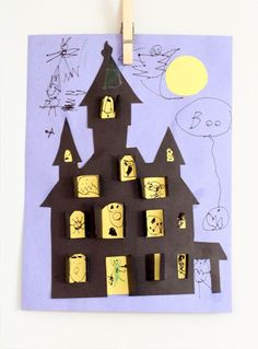 Haunted House Halloween Cut-out