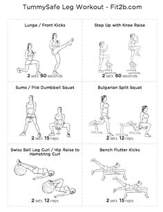 TummySafe Leg Workout - Fit2B Studio