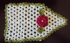 Rosangela Artes & Linhas: Pegador para porta de geladeira em crochê