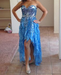 www.pageantresale.com - Blue Sherri Hill dress. - Click for more details or to contact the seller.  Have something to sell? Visit www.pageantresale.com to get started! #pageantdress #sherrihill #pageantresale