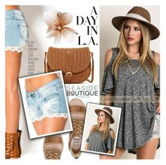 """""""Day In L.A."""" by seaside-boutique ❤ liked on Polyvore featuring Billabong and Deux Lux"""