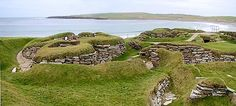 This is a pic of Skara Brae on the coast of the main island of Orkney off the north coast of scotland. When you walk out to this site, they have stone placed that walk you back through history.  When you reach the one that reads The Birth Of Christ and youre only half way there, you know this place is special.
