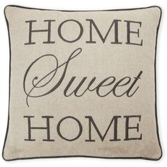 Rodeo home our story decorative pillow 999 liked on polyvore rodeo home grey home sweet home pillow 15 liked on polyvore featuring home home decor throw pillows grey grey toss pillows grey home decor teraionfo