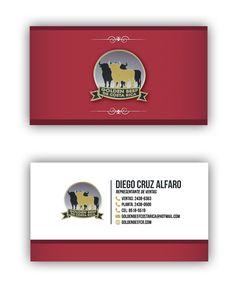 Golden Beef Tarjetas de Presentación