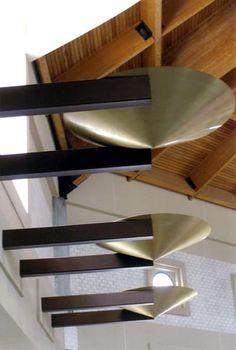 Jozef Custom Ironworks | Iron, Bronze, Curved Stair Railings, Spirals, Gates, Bronze torches in natural finish. St. Mark Church, Ft. Lauderdale, FL