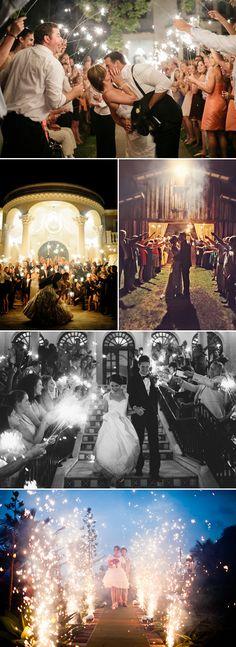 "Sparkler Wedding Exit Ideas   |   ""30 Creative Wedding Exit Ideas"" (http://www.praisewedding.com/archives/2775)"
