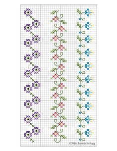 Cross Stitch Patterns by designer Pamela Kellogg Cross Stitch, Crazy Quilting and Embroidery Tiny Cross Stitch, Cross Stitch Bookmarks, Simple Cross Stitch, Cross Stitch Borders, Cross Stitch Flowers, Cross Stitch Designs, Cross Stitch Patterns, Crazy Quilting, Crazy Quilt Stitches