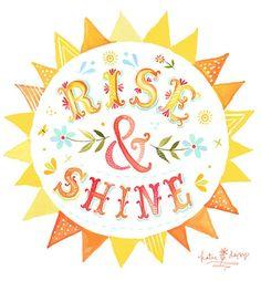 Rise and Shine...Sun Illustration