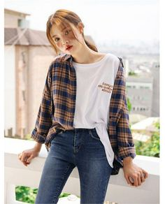 casual korean fashion 118 - casual korean fashion 118 You are in the right place about cute outfits Here w - Korean Outfit Street Styles, Korean Casual Outfits, Casual Hijab Outfit, Korean Fashion Casual, Korean Fashion Trends, Kpop Outfits, Korea Fashion, Fashion Outfits, Fashion Styles