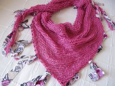 Pink knitted scarf / Women fashion scarf hand by SEVILSBAZAAR, $25.00