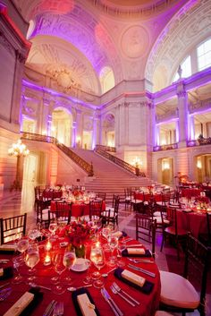Oh my gosh!  Can you imagine being the bride walking down those stairs?!  Fairy tale!