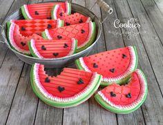 Pretty Sweet Watermelon - Cookies by Missy Sue