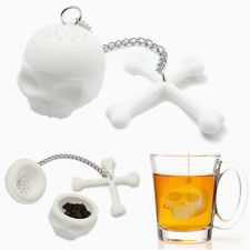 Silicone Skull Tea Infuser Loose Tea Leaf Strainer Herbal Spice Filter Diffuser