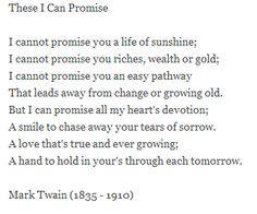 mark twain poem these i can promise poemsrom co