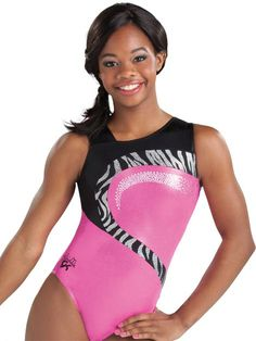 Gabby Douglas Berry and Zebra Leotard from GK Elite